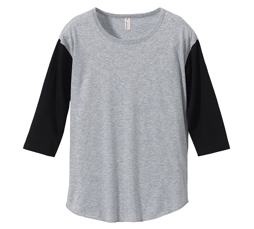 1288-04  4.1オンス 3/4スリーブ ベースボール Tシャツ(セットイン)(ガールズ)