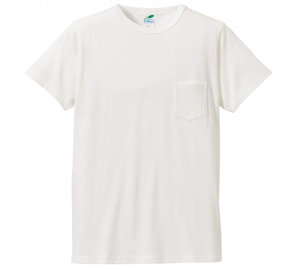 1291-01  4.4オンス トライブレンド Tシャツ(ポケット付)