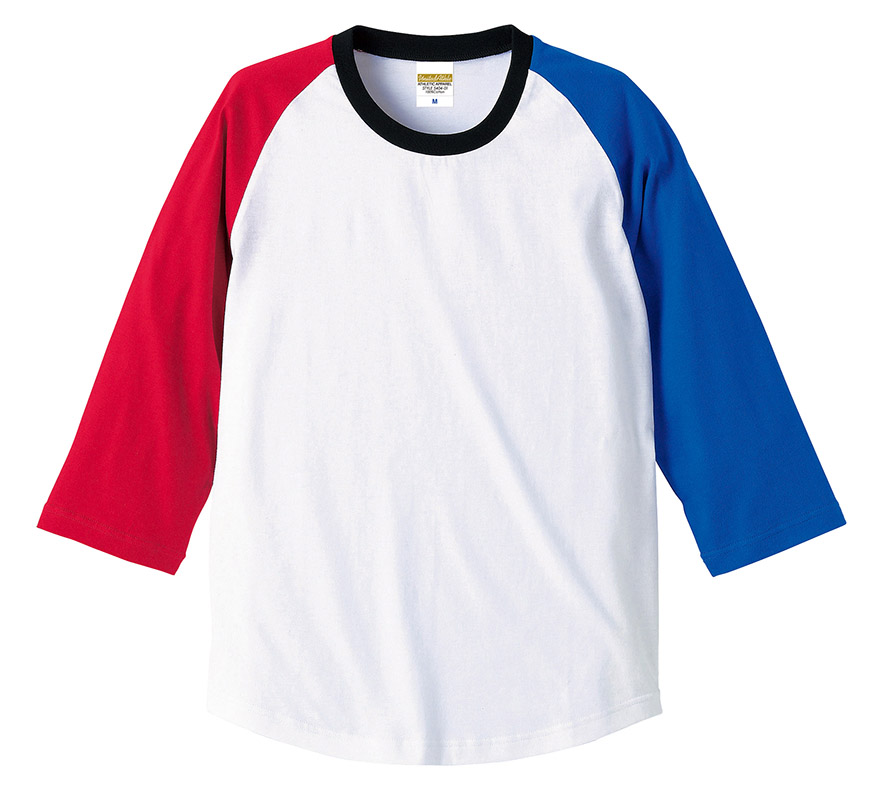 5404-01, 02  5.0オンス ラグラン 3/4スリーブ Tシャツ