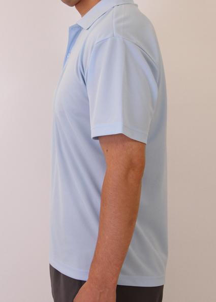 ライトブルーLサイズ モデル180cm男性