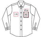 S0010 4.25ozワークシャツ長袖ストライプ
