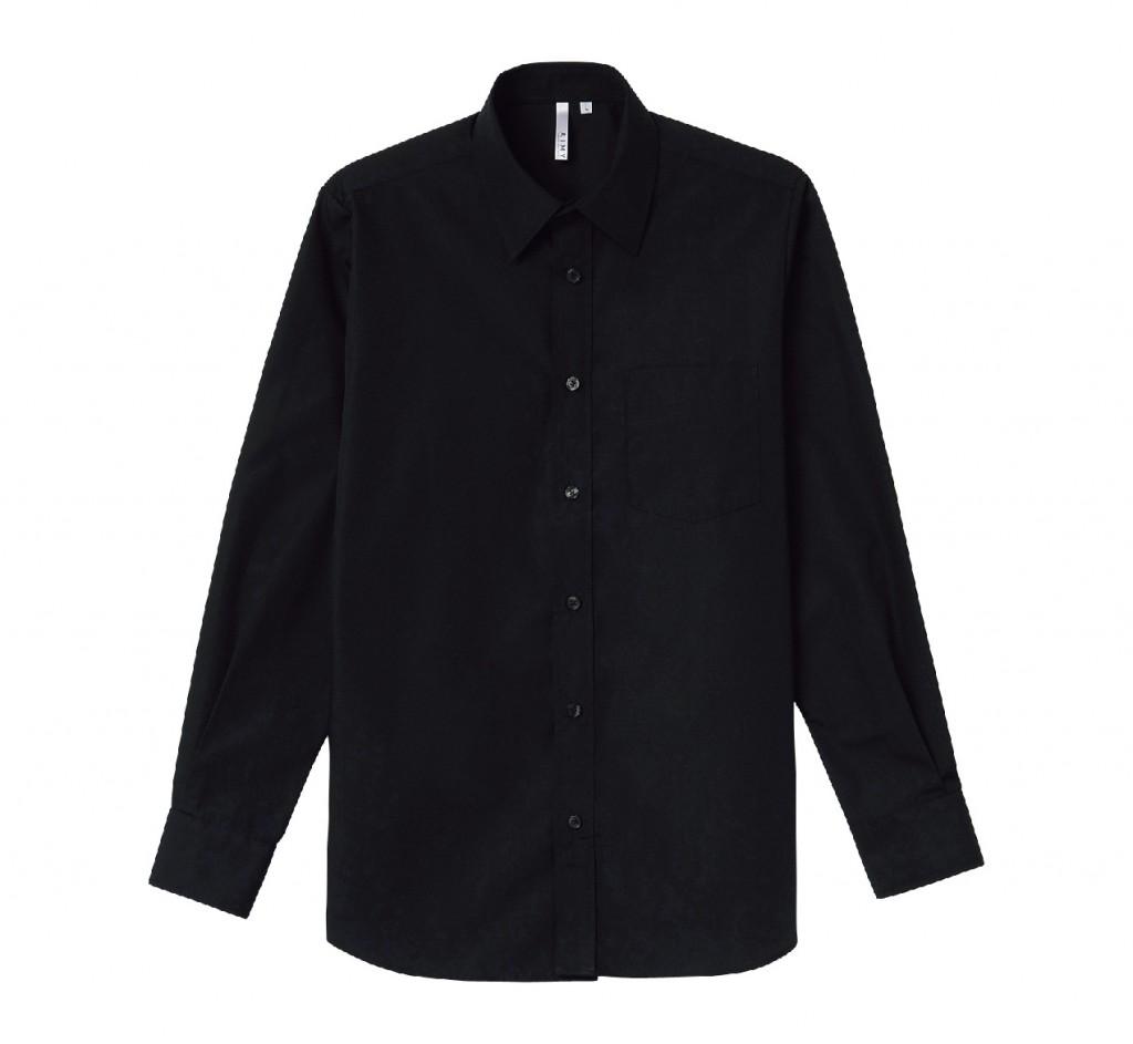00811-LBM 長袖ブロードシャツ(メンズ)