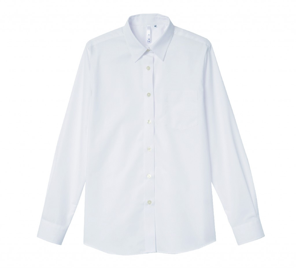 00812-LBL 長袖ブロードシャツ(レディース)