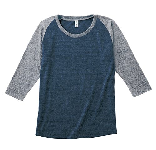TQS-121 トライブレンド ラグラン 7分袖 Tシャツ(レディース)
