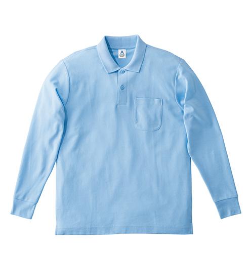 MS3115 ポケット付CVC鹿の子ドライ長袖ポロシャツ