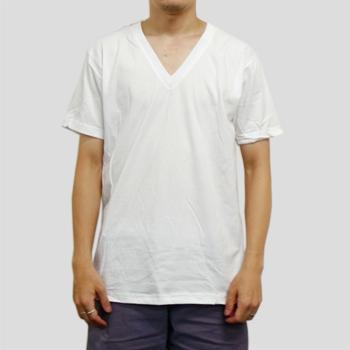 T2456 4.3ozファインジャージーVネックTシャツ