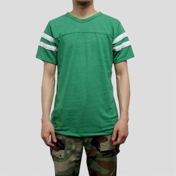 T1215 4.9ozエコヘザーフットボールTシャツ