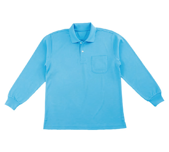 25820 ドライメッシュ ポロシャツ長袖(ポケット付)