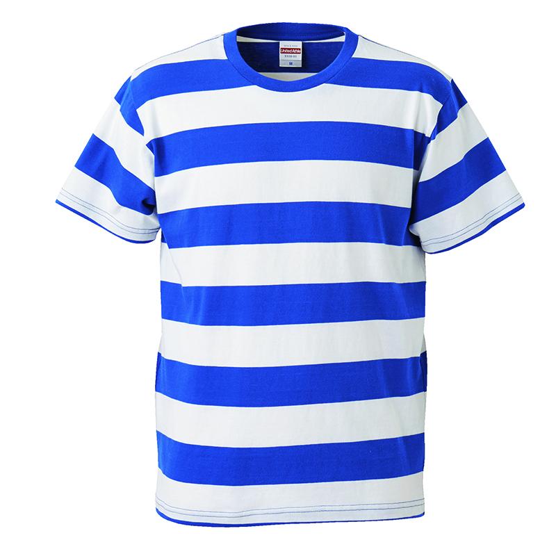 5518-01  5.0オンス ボールドボーダー ショートスリーブ Tシャツ