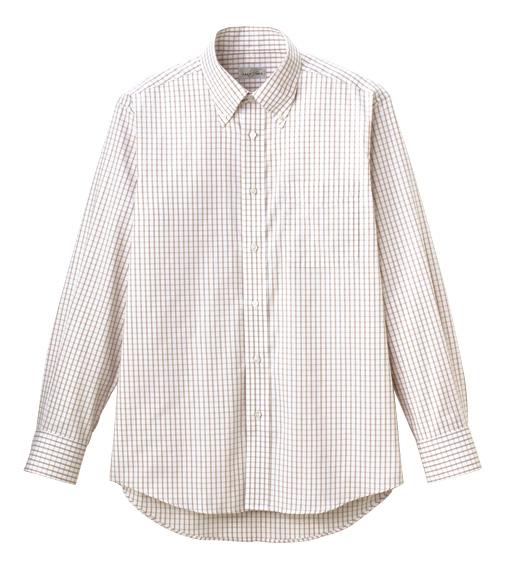 FB4506U グラフチェック長袖シャツ