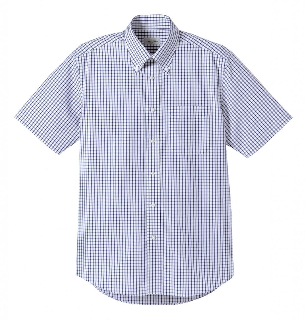 FB4507U グラフチェック半袖シャツ