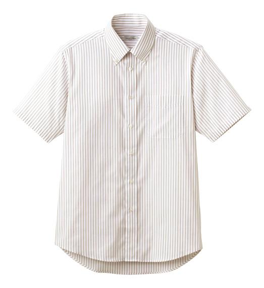 FB4509U ストライプ半袖シャツ