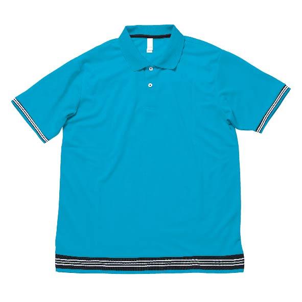 MS3117 裾ラインリブポロシャツ