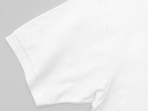 台襟と袖は同素材のリブ