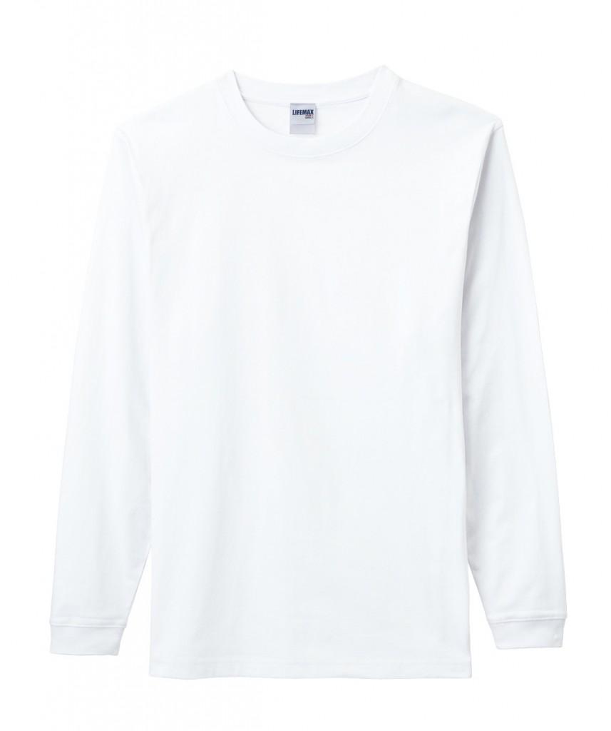 MS1606 6.2オンス ヘヴィーウェイトロングスリーブTシャツ (ホワイト)