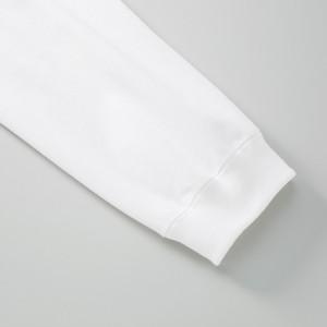 袖リブ、袖付けダブルステッチ