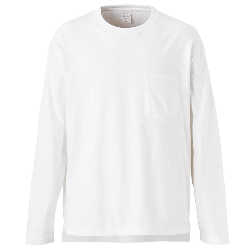 5012-01, 5.6オンス ルーズフィットロングスリーブ Tシャツ(ポケット付)