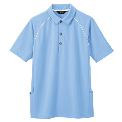 AZ-7663 バッグサイドポケット半袖ポロシャツ