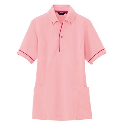 AZ-7668 サイドポケット半袖ポロシャツ