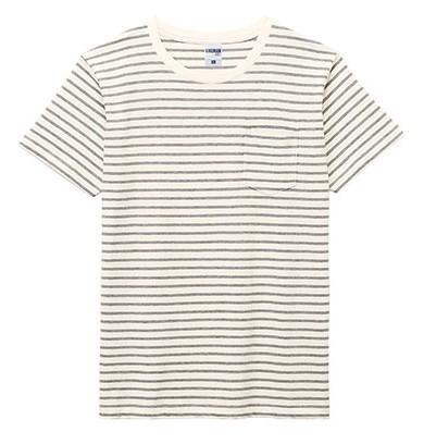 MS1141PB 5.3オンス ユーロボーダーTシャツ(ポケット付)