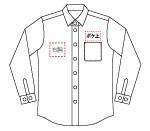 FB5011M メンズシングルスタンドコックシャツ