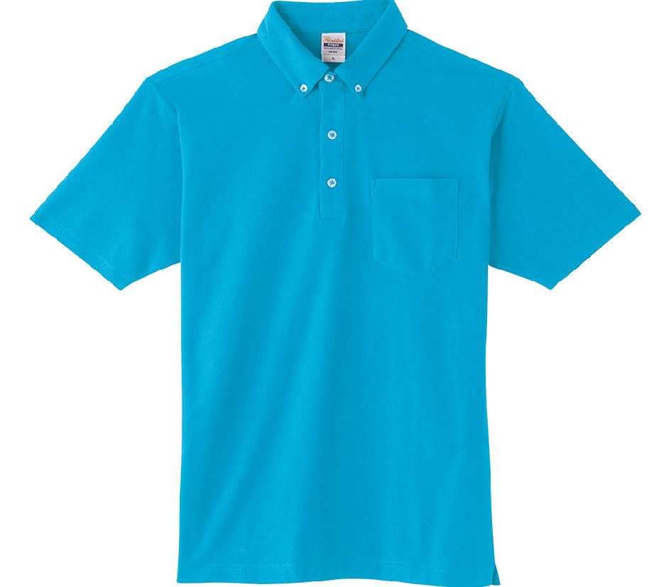 00198-BDQ 4.9oz ボタンダウンポロシャツ(ポケット付)