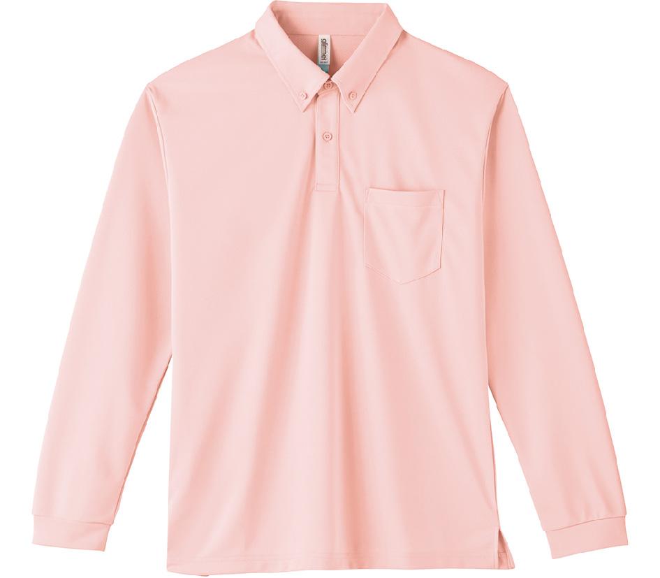00314-ABL 4.4oz ドライボタンダウン長袖ポロシャツ