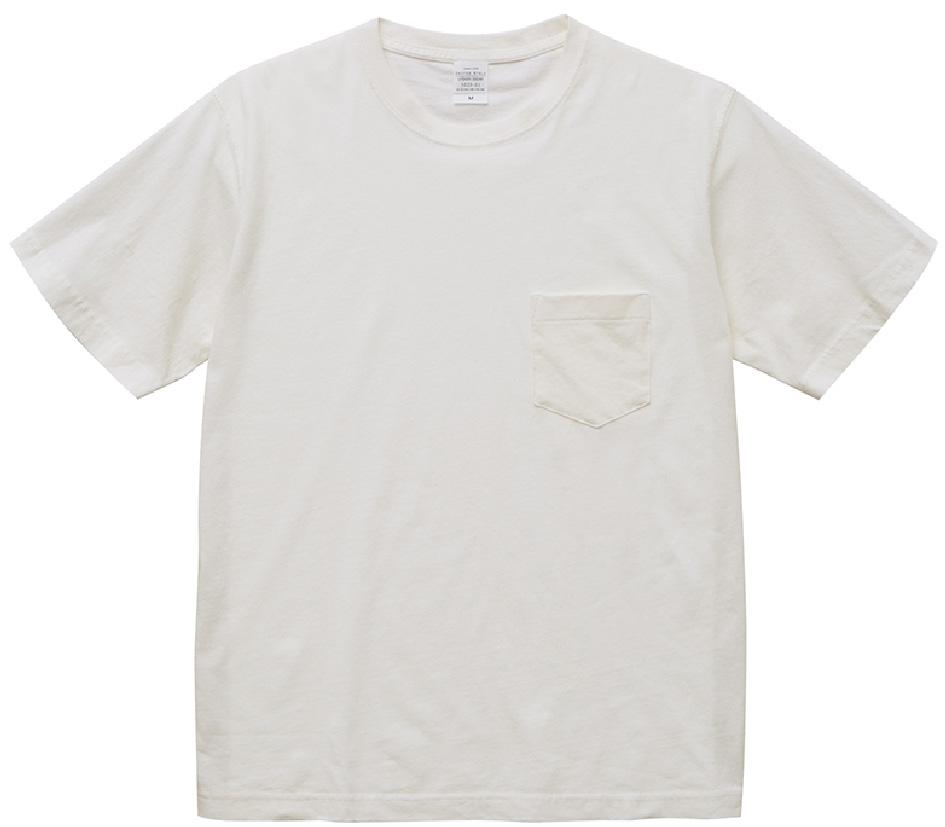5029-01 5.6オンス ピグメントダイTシャツ(ポケット付)