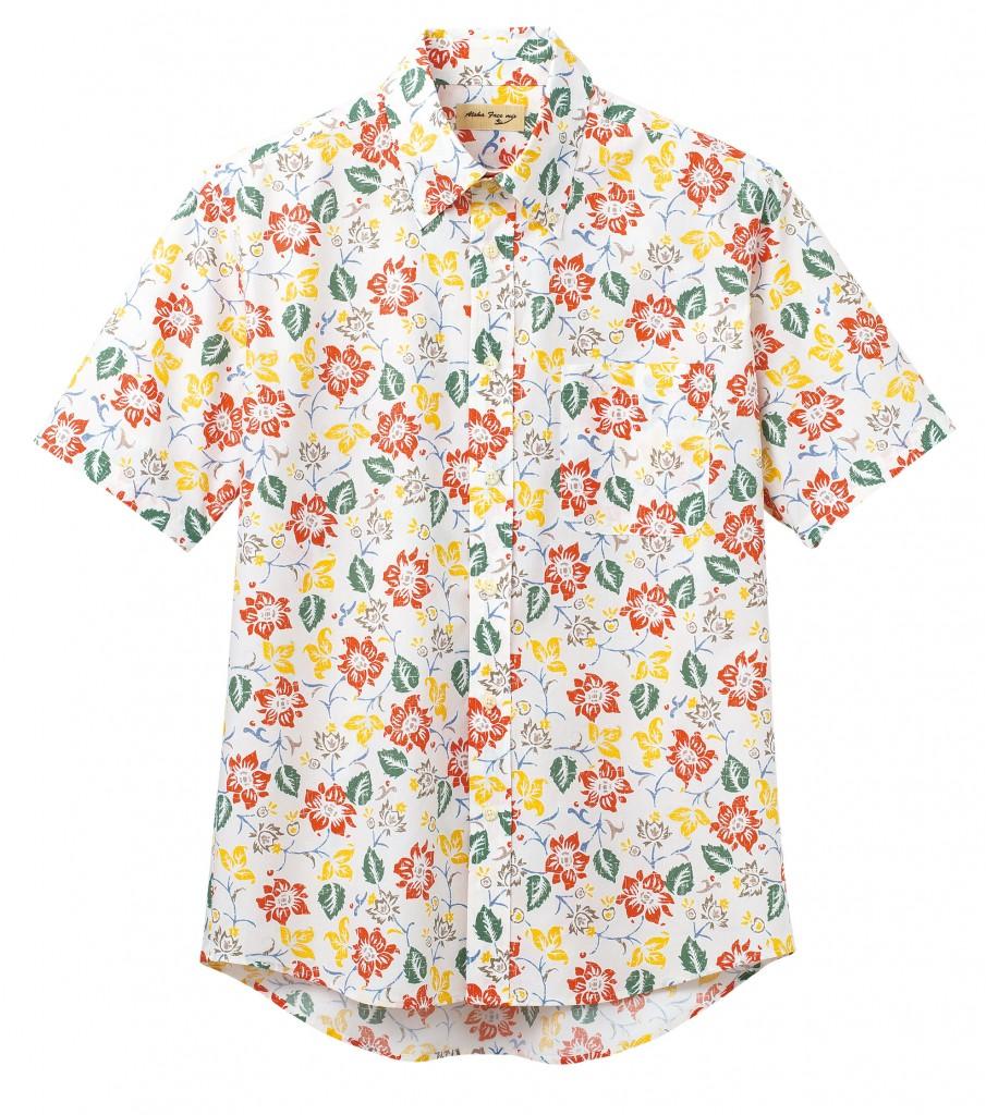 FB4540U  アロハシャツ(花柄)
