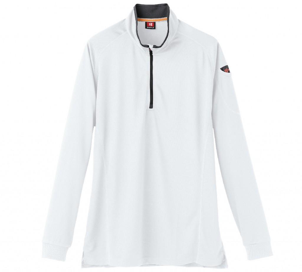 BT413 ハーフジップ長袖シャツ