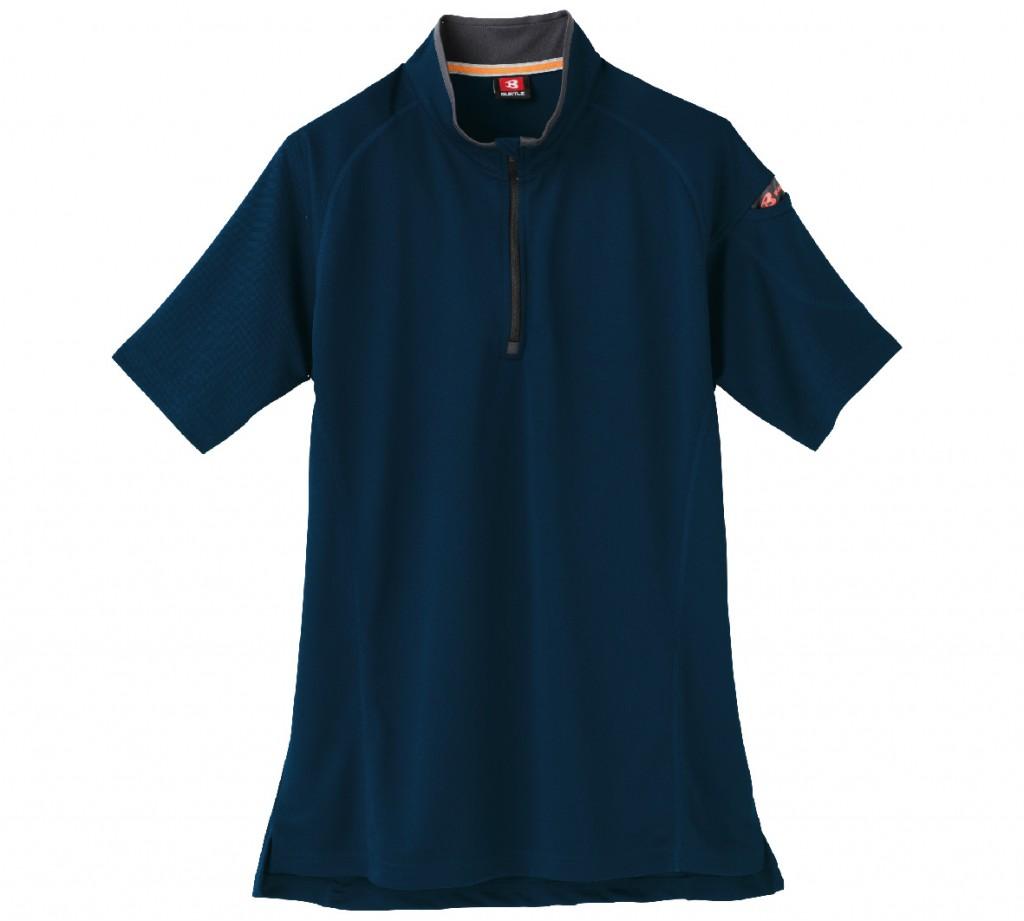 BT415 ハーフジップショートスリーブシャツ
