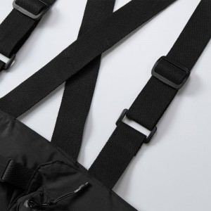 ショルダーテープの素材は綿 100%。もちろん長さ調節も可能。